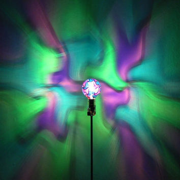 The ORIGINAL Hand-Painted Green/Blue/Purple Mosaic Mood-Light Bulb 4 Color Therapy, Night Lights, Parties, Mood Lighting