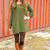 The Way I Am Sweater: Green