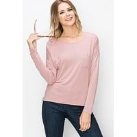 A Simple Favor Top - Dusty Blush