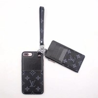 Black Monogram Case + Card Holder Pouch