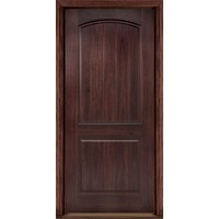 Masonite 36 in. x 80 in. AvantGuard Sierra 2-Panel Finished Smooth Fiberglass Prehung Front Door with No Brickmold-10249 - The Home Depot