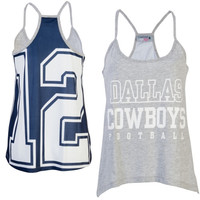 Dallas Cowboys Women's Allred Tank Top – Gray