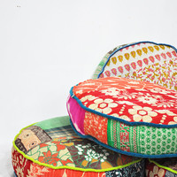 Patchwork floor cushion covers  Indian Kantha by namedesignstudio