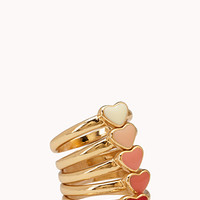 Crazy Hearts Ring Set