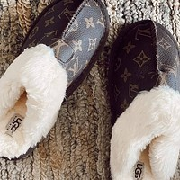 LV x UGG Slippers Shoes