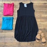 *BELLES & STEALS* Summertime Swing Dress in Fuchsia, Teal, and Black