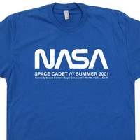 Vintage Nasa T Shirt Science Geek Shirt Nasa Space Cadet Shirt Retro Nasa Shirt