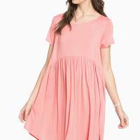 Laced Up Babydoll Dress Strawberry Ice