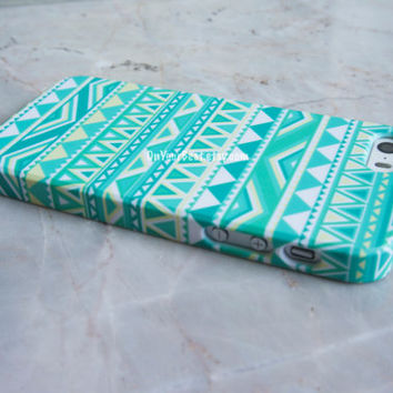 Mint Aztec Geometric Tribal iPhone Case Cover, iPhone 5s Case , iPhone 5 , iPhone 5c Case ,iPhone 4 ,iPhone 4s ,Samsung Galaxy S4 Case