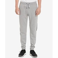 Calvin Klein Mens Classic-Fit Joggers with Logo Taping L