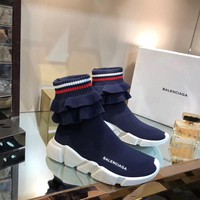 2019 New Balenciaga Speed Trainers Blue Sneakers - Best Online Sale