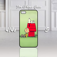 Cute Snoopy , Design For iPhone 4/4s Case or iPhone 5 Case - Black or White (Option)