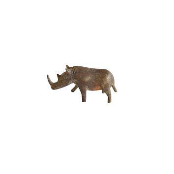 Vintage African Medium Bronze Alloy Thin Nosed Rhino