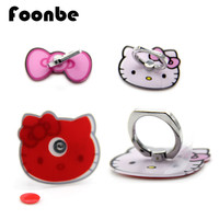 Lovely Bow Kitty Phone Holder Acrylic Metal Phone Ring Sticker Bracket Support SelfieTablet Stand Pothook Rotation Grip