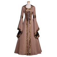 Renaissance Medieval Gothic Hood Dresses Cosplay Custom Made
