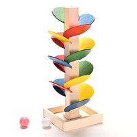 Wooden Tree Marble Ball Run Track Game Montessori Baby Toy Assembly Blocks Intelligence Kids Children Educational Toy Xmas Gift