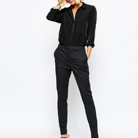 Selected Muse Cropped Skinny Pants in Black