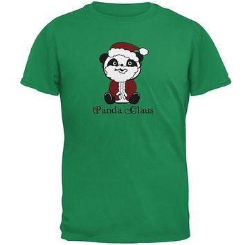 Christmas Panda Santa Claus Cute Mens T Shirt