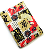 Handcrafted Tablet Case from Asian Dream, Peace Print  Fabric /  Case for iPad,  Kindle Fire HD, Google Nexus , Samsung Galaxy Tab
