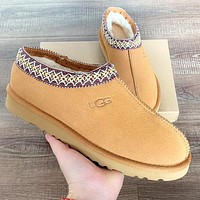 UGG Fashion Women Men Wool Snow Boots Calfskin Shoes Brown