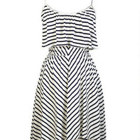 Knit Striped Lampshade Dress