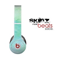 The Subtle Green & Blue Watercolor Skin for the Beats by Dre Solo-Solo HD Headphones