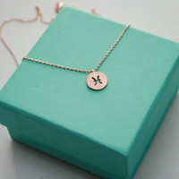 Dainty Circle Coin 12 Constellation Pisces Necklace