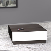 Luxeria 220733 Allure Coffee Table Ebony and White