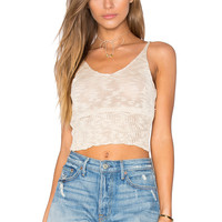 Lost in Lunar Sunset Knit Top in Beige | REVOLVE
