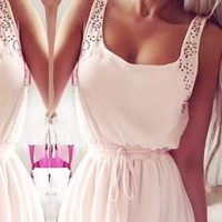 Sexy Light Cotton Chiffon Dress. European Style Perfect for any outing & Travels Great!