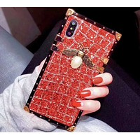 BEE luxury atmosphere iPhone7 plus anti-fall tide brand 8X mobile phone case F-OF-SJK red