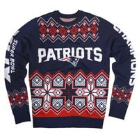New England Patriots SB 49 Champions Official NFL Knit Crew Neck Sweater