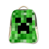 Creeper Minecraft Gamer Backpack (2015 New Arrival)