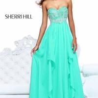 A-Line Sweetheart Gown by Sherri Hill