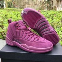 ONETOW Air Jordan Retro 12 Discount AJ12 PSNY x Purple Cheap Sale JD 12 Men Sports Basketball Shoes With Box