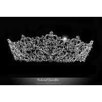 Lorelei Royal Statement Silver Tiara | Swarovski Crystal