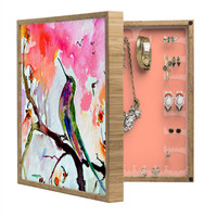 Ginette Fine Art Hummingbird In Spring BlingBox Petite