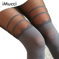Sexy Chiffon Tights High Stocking