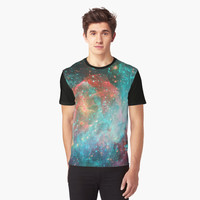 'Colorful Space Glitch ' Graphic T-Shirt by ChessJess