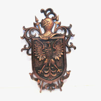 Syroco Crest / Coat of Arms, Vintage Plastic Wall Art