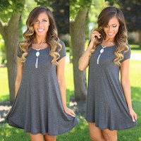 Casual Summer Tunic in Charcoal