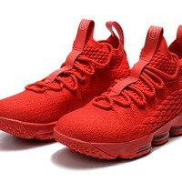 Best Deal Online Nike LeBron 15 Red Ohio State PE Sneakers Men Sports Shoes