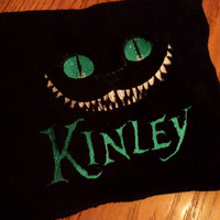 CHESHiRE CaT Pillow EMBROiDERED DeSiGN Matching Baby Blanket Avail! AMaZiNG BRIGHT Turquoise Bold Eyes! BouTiQUe UniQuE Designs by Sugarbear