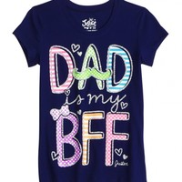 Dad Is My Bff Graphic Tee   Girls Graphic Tees Clothes   Shop Justice