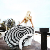 Indian Large Round Wall Hanging Mandala Beach Throw Towel BOho Hippie Bedspread Gypsy Tapestry Blanket Home Decor 150*150CM