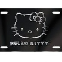 Hello Kitty Black Front Plate