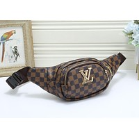 LV Louis Vuitton Fashion Joker Simple Printed Chest Pocket 2#