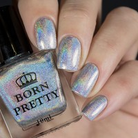 BORN PRETTY High Ingredients Holographic Holo Glitter 10ml Nail Polish Super Shine Manicure Vanish Shine In The Dark