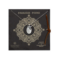 paradise found lady guadalupe and bull skull necklace, sterling silver, 18 inch