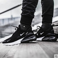 Nike AIR MAX 270 air cushion sneakers casual black samurai running shoes